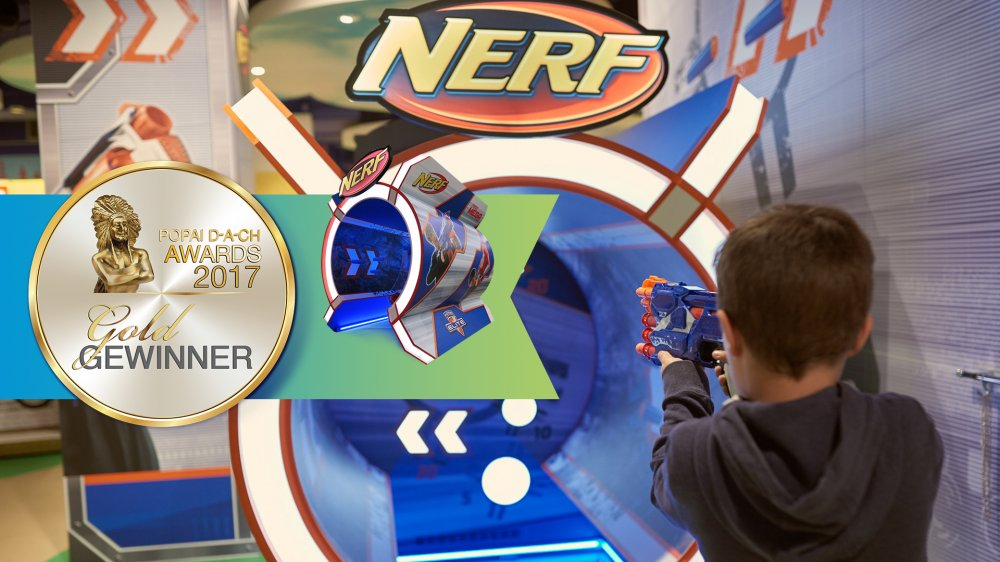 Gold for the Nerf Shooting Range at the POPAI DACH AWARDS 2017