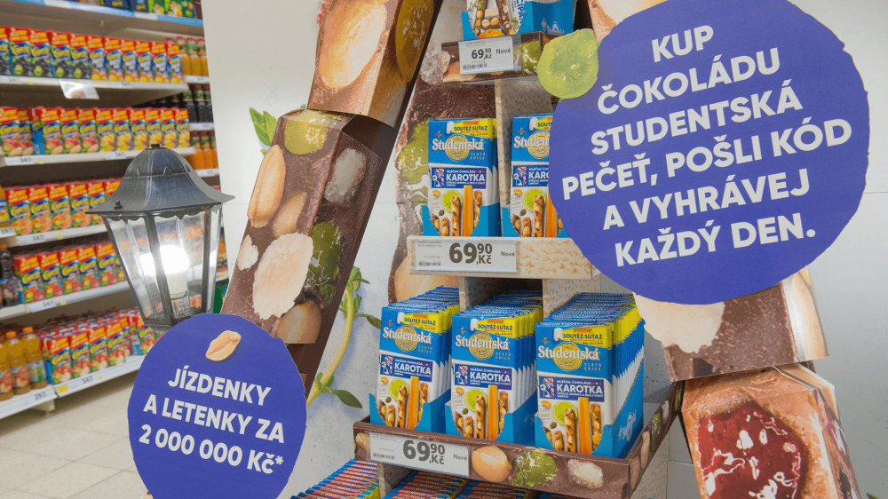 End Cap Studentská pečeť, 1 - In-store design
