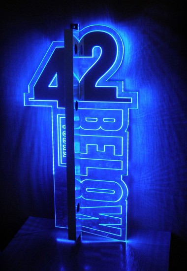 42 Below - illuminated advertising