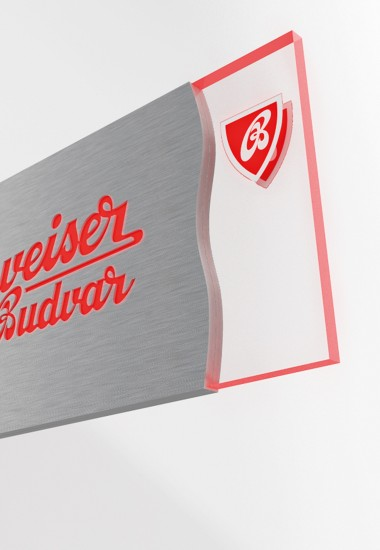 Budvar illuminate sign - illuminated advertising