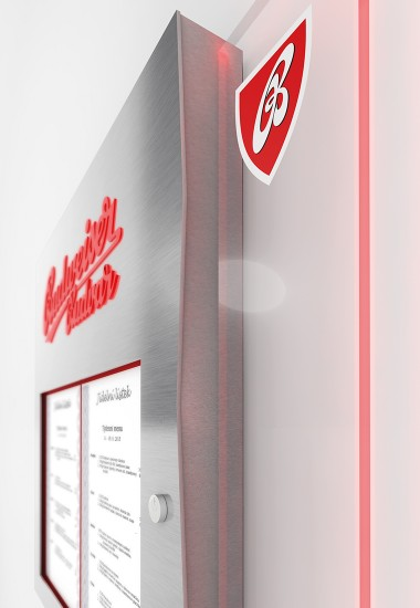 Budvar Menu Box - illuminated advertising