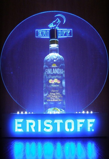 Eristoff - illuminated advertising