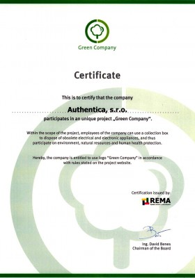 Green Company | Certificates